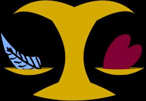 Osiris vågskålar, ditt hjärta ska vara lätt som en fjäder.